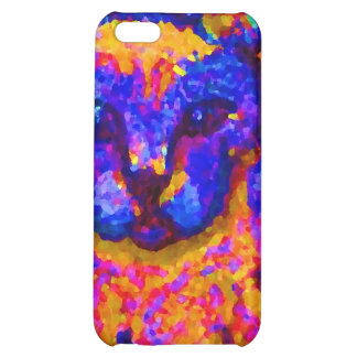 Neon Grey Cat CricketDiane Art & Design iPhone 5C Cover