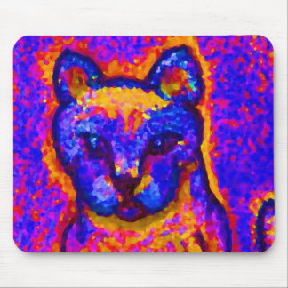 Neon Grey Cat  CricketDiane Art & Design Mouse Pad