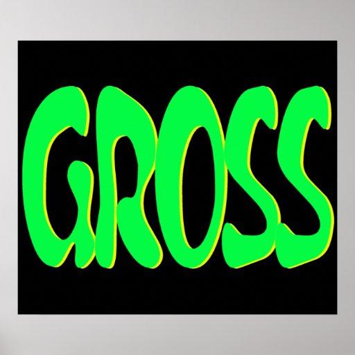 neon gross print