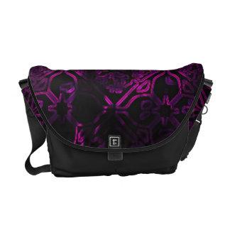 Neon Grunge Black and Purple Gothic Messenger Bag