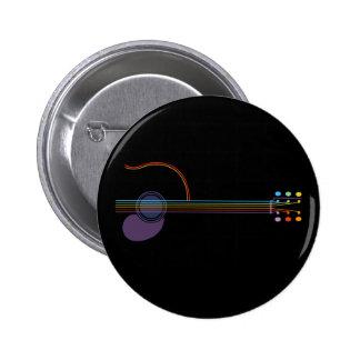 Neon Guitar Button