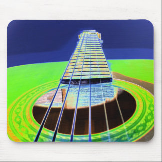 Neon Guitar Mouse Pad