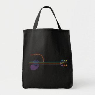 Neon Guitar Tote Bag