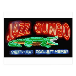 Neon Gumbo Postcard