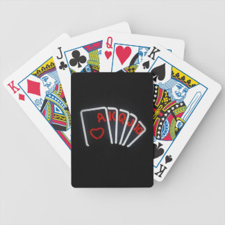 Neon Hand Bicycle Playing Cards