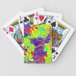 Neon Hawaii Bicycle Playing Cards