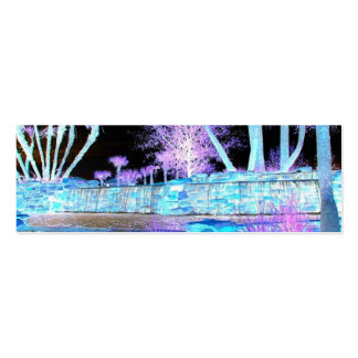 Neon HDR :  Name card (trees and water) Double-Sided Mini Business Cards (Pack Of 20)