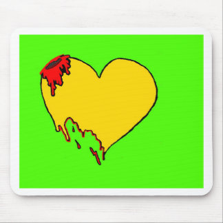 Neon Heart Mouse Pad