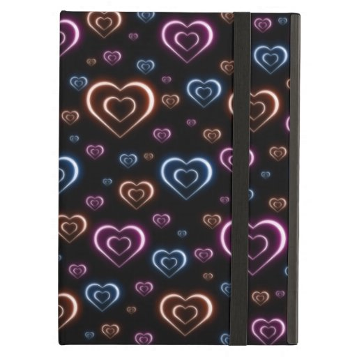 Neon hearts case for iPad air