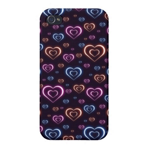 Neon hearts case for iPhone 4
