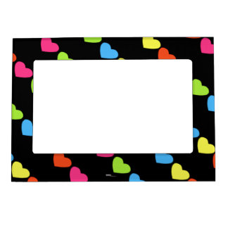 Neon Hearts Magnetic Photo Frame