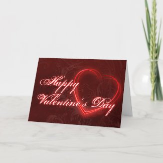 Neon Hearts Valentine's Day Greeting Card