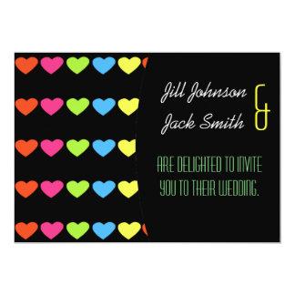 Neon Hearts (Wedding) Card