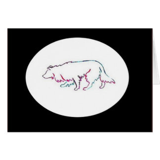 Neon Herd~border Collie Notecard