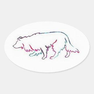 Neon Herd Border Collie Sticker