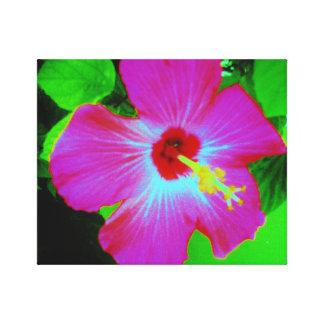 Neon Hibiscus Canvas Print