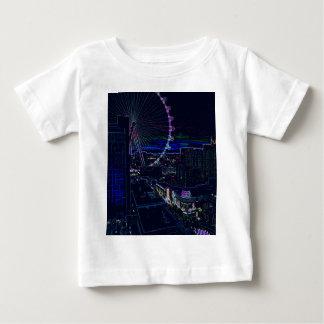 Neon High Roller Ferris Wheel Abstract Vegas Baby T-Shirt