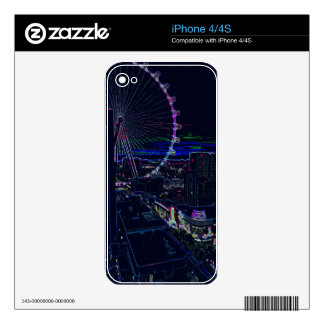Neon High Roller Ferris Wheel Abstract Vegas Decal For The iPhone 4S