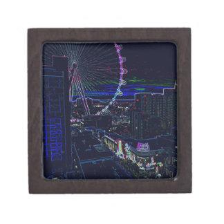 Neon High Roller Ferris Wheel Abstract Vegas Gift Box