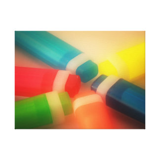 Neon highlighters photo canvas print