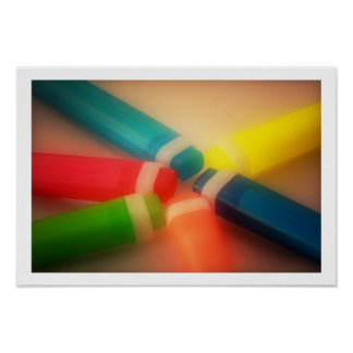 Neon highlighters photo poster