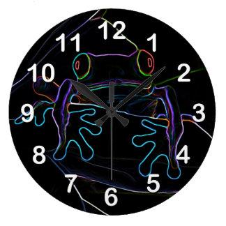 Neon Hopper Large Clock