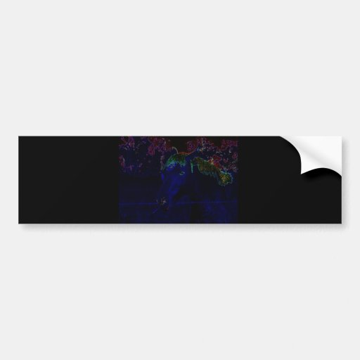Neon Horse Car Bumper Sticker