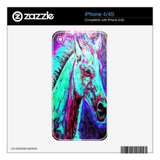 Neon Horse iPhone 4S Decals