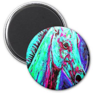 Neon Horse Magnet