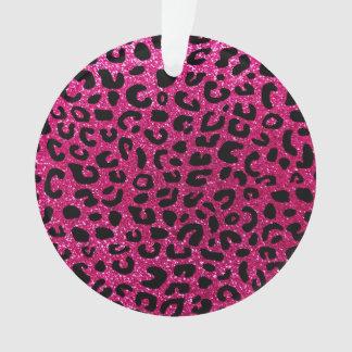 Neon hot pink cheetah print pattern