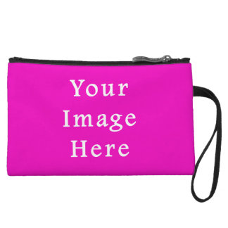 Neon Hot Pink Color Trend Blank Template Wristlets