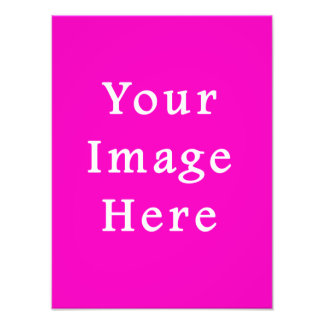 Neon Hot Pink Color Trend Blank Template Photo Print