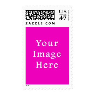 Neon Hot Pink Color Trend Blank Template Postage Stamp