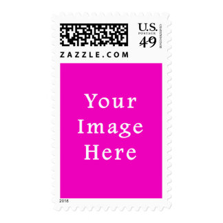 Neon Hot Pink Color Trend Blank Template Stamps