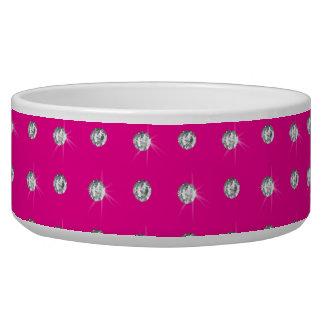 Neon hot pink diamonds bowl