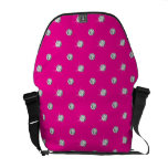 Neon hot pink diamonds courier bags
