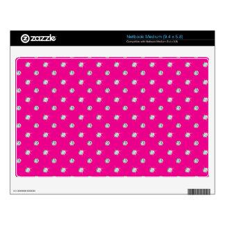 Neon hot pink diamonds netbook decals
