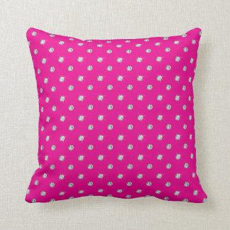 Neon hot pink diamonds throw pillow