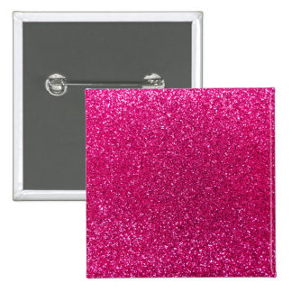 Neon hot pink glitter button