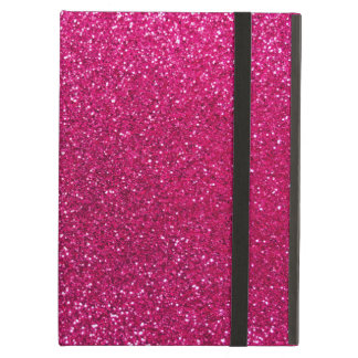 Neon hot pink glitter cover for iPad air