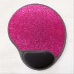 Neon hot pink glitter gel mouse pad