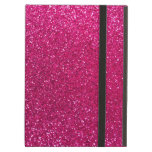 Neon hot pink glitter iPad covers