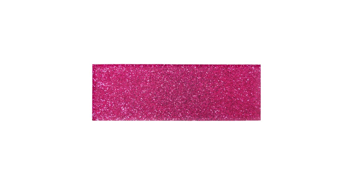 Neon Hot Pink Glitter Name Tag Zazzle Com