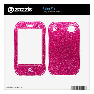 Neon hot pink glitter decals for the palm pre