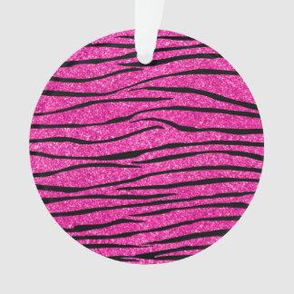 Neon hot pink glitter zebra stripes