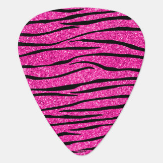 Neon hot pink glitter zebra stripes pick