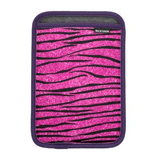 Neon hot pink glitter zebra stripes iPad mini sleeves
