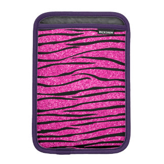 Neon hot pink glitter zebra stripes sleeve for iPad mini