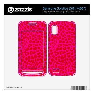 Neon hot pink leopard print pattern samsung solstice decals