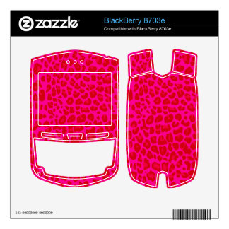 Neon hot pink leopard print pattern BlackBerry 8703e decal